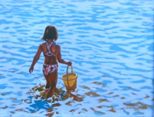 "# 661 ""MAKING STRIDES, BASS RIVER"" (GIRL WITH A YELLOW PAIL)"