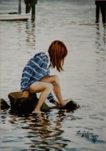 "WA 19 ""GIRL PLAYING, BASS RIVER"""