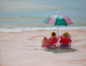 """#893 """"ROSE GLOW, MORNING ON THE BEACH"""""""