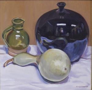 #1002, WHITE GOURD AND CERAMICS