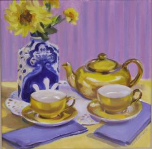 #1032, YELLOW TEA SETTING