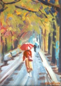 #676, SPRING RAIN, CENTRAL PARK,MANHATTAN