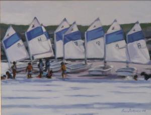 #937, THE FLEET, BEACHED AND BATHING, BASS RIVER