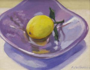 #946, LEMON IN LAVENDER DISH