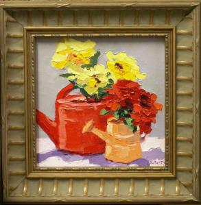 "#1044 ""FLOWERS AND WATERING CANS"""