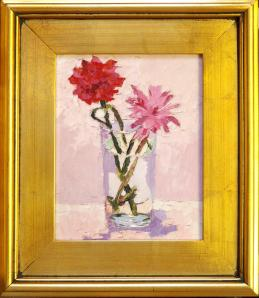 "592CP CANVAS PRINT ""PINKS"", BY ARTIST ANN SULLIVAN  IN STANDARD FRAME"