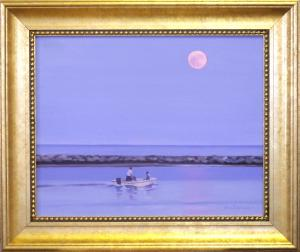 "#1080 ""MOON OVER BASS RIVER"" (OUR BEAUTIFUL RIVER SERIES XI)"