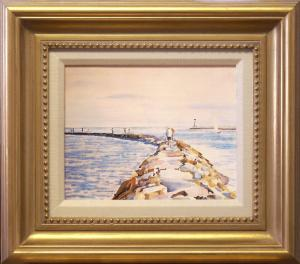 "520CP CANVAS PRINT ""WEST DENNIS JETTY, BASS RIVER"""