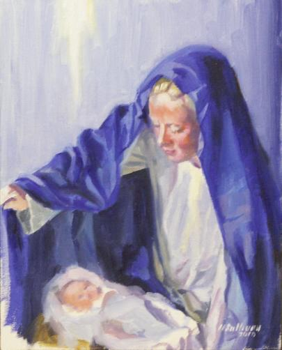 "#1083 ""MARY AND INFANT JESUS, MARY REVEALS OUR SALVATION"" (CHRISTMAS 2010)"
