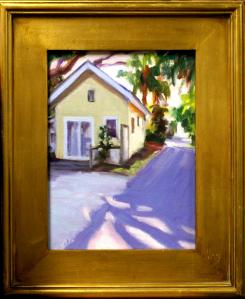 "#1090 ""YELLOW COTTAGE, AFTERNOON SHADOWS, OLD NAPLES FL"""
