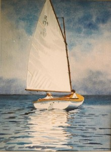 "WA 26 ""BEETLE CAT UNDER SAIL, CAPE COD"""