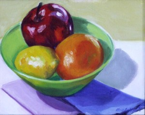 "#803 ""RAINBOW STILL LIFE: FRUIT"""