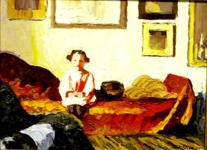 "#815 ""LITTLE ANNETTE AFTER UNCLE EDUARD VUILLARD"""