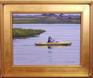 "#1092 ""KAYAKING BASS RIVER, CAPE COD"" (OUR BEAUTIFUL RIVER SERIES #XIV)"