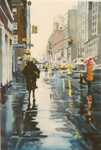 "#336 ""EVENING RAIN, MANHATTAN"""