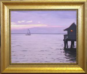 "#1105 ""SUNSET SAIL, NAPLES PIER, FLORIDA"""
