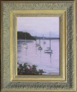 "#1108 ""TWILIGHT, BASS RIVER, CAPE COD"" (OUR BEAUTIFUL RIVER SERIES XXV)"
