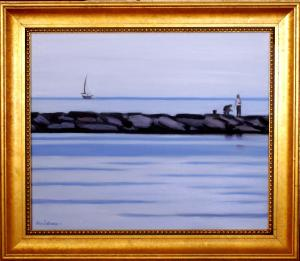 "#1109 "" SEA OF GLASS, BASS RIVER, CAPE COD"" (OUR BEAUTIFUL RIVER SERIES XXVI)"