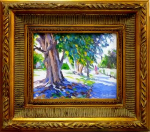 "#1136 ""BLUE LIGHT AND SHADOWS, ALLEY OFF 2ND STREET, OLD NAPLES, FL"""