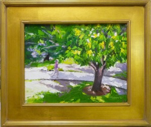"# 1137 ""MAHOGANY TREE, CAMBIER PARK FROM STUDIO WINDOW, NAPLES FL"""