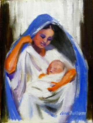 """#1151 """"LIGHT IN THE DARKNESS, MADONNA AND CHRIST CHILD"""""""