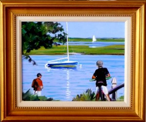 "#1155 ""DREAMS OF SAILING, RIVER ST VIEW, BASS RIVER, CAPE COD"" (OUR BEAUTIFUL RIVER SERIES XXIX)"