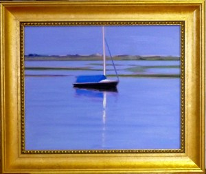 "#1157 ""DREAM BOAT, EARLY EVENING, HIGH TIDE, BASS RIVER, CAPE COD""(OUR BEAUTIFUL RIVER SERIES XXXI,NOCTURNE XIII"