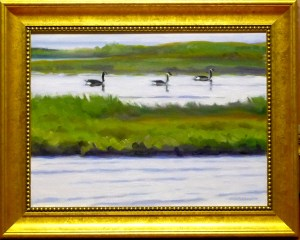 "# 1160 ""BASS RIVER MARSH AND GEESE"" (OUR BEAUTIFUL RIVER SERIES XXXIII)"