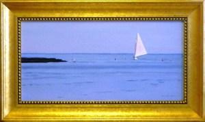 "# 1162 ""HEADED HOME ON THE WIND, MOUTH OF BASS RIVER, CAPE COD""(OUR BEAUTIFUL RIVER SERIES #XXXV)"