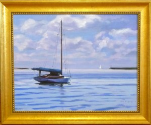 "# 1163  ""BASS RIVER VISTA WITH WIANNO AEGIR MOORED"" (OUR BEAUTIFUL RIVER SERIES XXXVI)"