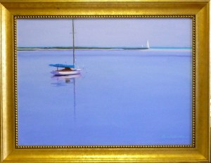 "# 1164 ""THE BASS RIVER WITH A WIANNO MOORED"" (OUR BEAUTIFUL RIVER SERIES XXXVI)"