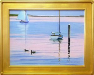 "# 1161 ""SUNSET BASS RIVER WITH DUCKS"" (OUR BEAUTIFUL RIVER SERIES XXXIV)"