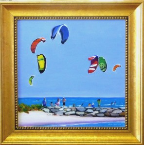 "# 1168 ""SKY CANDY, SAIL KITES, WEST DENNIS BEACH, CAPE COD"""