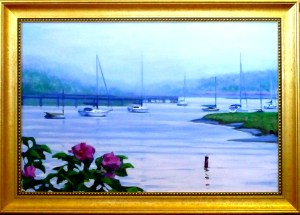"# 1173 ""LIFTING MIST, BASS RIVER, CAPE COD"" (OUR BEAUTIFUL RIVER SERIES XXXIX)"