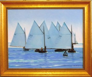 "#1188 ""WIANNO REGATTA, VEIW FROM THE MOUTH OF BASS RIVER, CAPE COD"" (Our Beautiful River Series XLI)"
