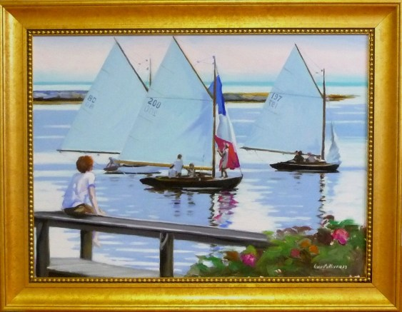 "#1189 ""WIANNO REGATTA, BASS RIVER, CAPE COD"" (Our Beautiful River Series XLII)"