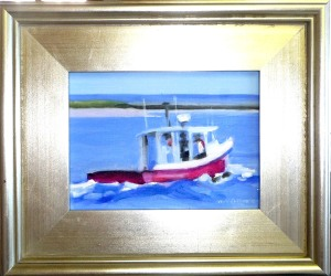 "#1194 ""FISHING BOAT HEADING OUT, BASS RIVER, CAPE COD"" (Our Beautiful River Series XLVII)"