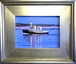 "#1196 ""SWEET HOME COMING, FISHING BOAT, BASS RIVER, CAPE COD""(Our Beautiful River Series XLIX)"