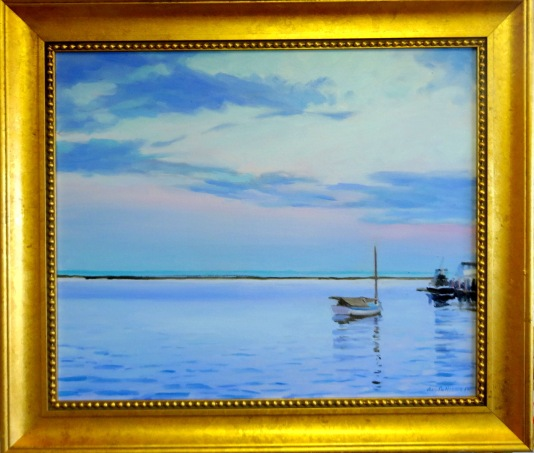 "#1214 ""EVENING DISPLAY BASS RIVER CAPE COD"" (OUR BEAUTIFUL SERIES LV)"