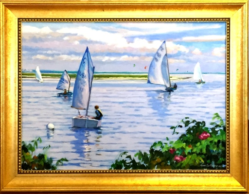 "#1230 ""BASS RIVER SCENE"" (OUR BEAUTIFUL RIVER SERIES LVIII)"