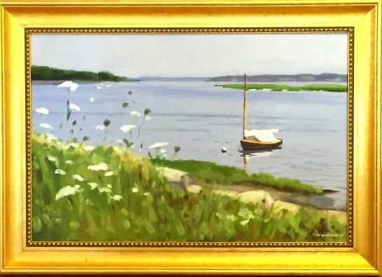 "#1232 ""RIVER BANK WITH QUEEN ANN'S LACE, BASS RIVER, CAPE COD"" (OBRS #LX)"