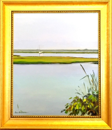 "#1233 ""RIVER BANK WITH CATTAILS, BASS RIVER, CAPE COD"" (OBRS #LXI)"