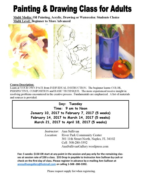 2017 River Park Painting Classes by Ann Sullivan