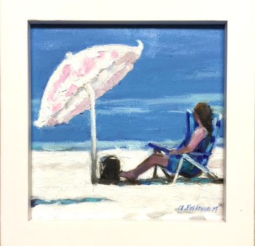 "#1272 ""PINK BEACH UMBRELLA"""