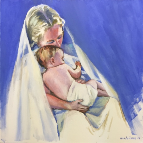 "#1284 ""A TENDER MOMENT"" (Madonna and Christ Child, Christmas 2017)"